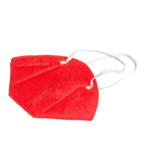 Respiratorius FFP2 x 5 vnt. (raudonos spalvos)