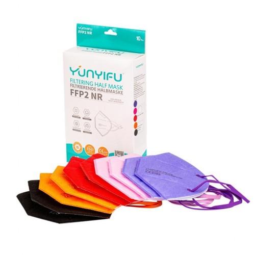 Respiratorius FFP2 x 10 vnt. (Mix W color)
