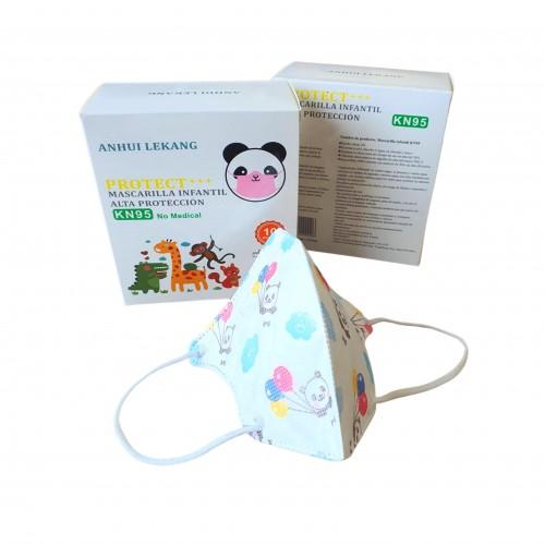 Vaikiškas respiratorius KN95 (baltos spalvos)