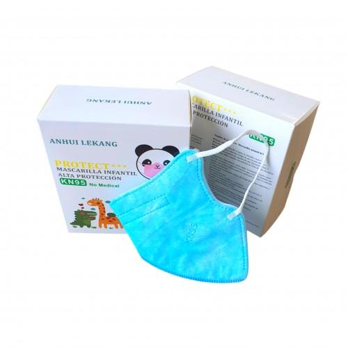 Vaikiškas respiratorius KN95 (melsvos spalvos)