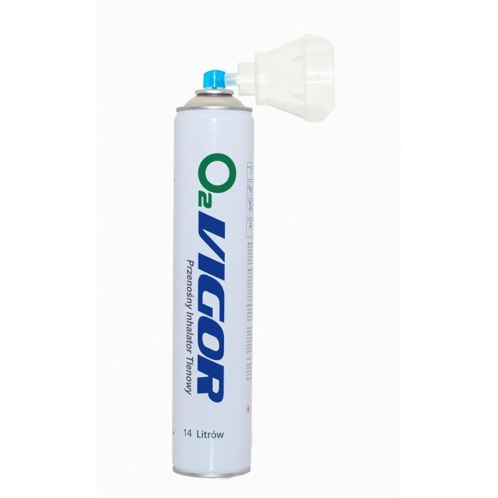 Suslėgtas įkvepiamasis deguonis 14L su kauke, koncentracija 99,5% VIGOR