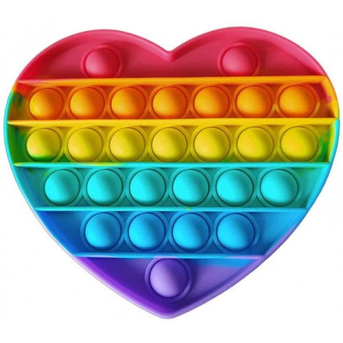 Antistresinis silikoninis žaislas Pop-it (HEART)